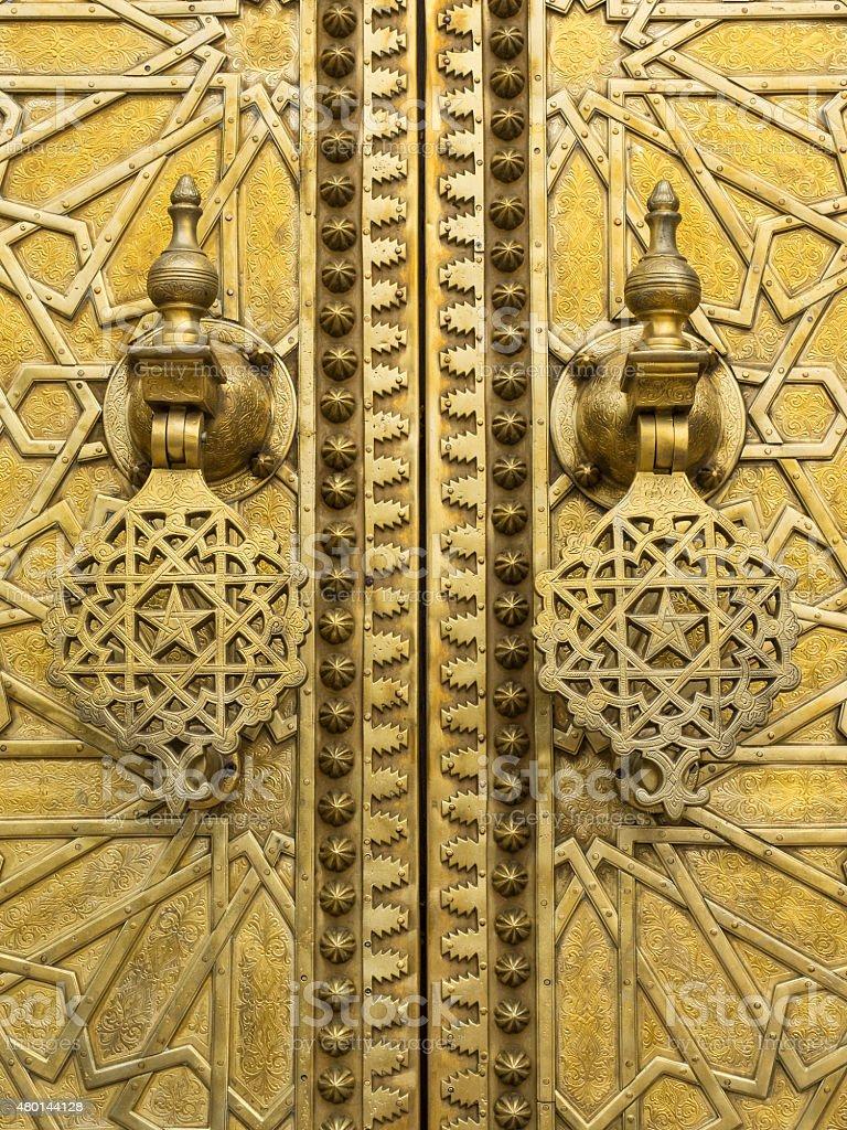 Marocco Golden Door stock photo