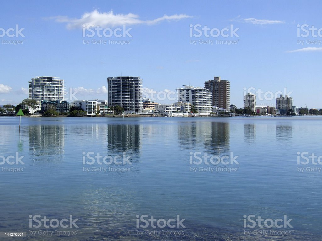 Maroochy river mouth stock photo