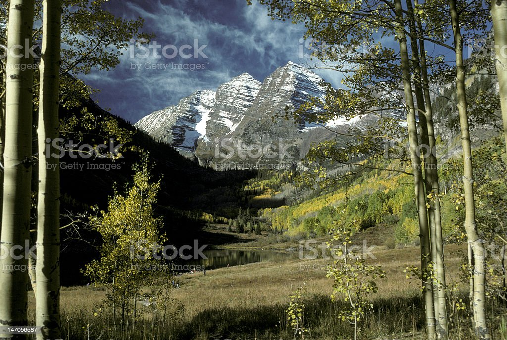 Maroon Bells, Aspen, CO royalty-free stock photo