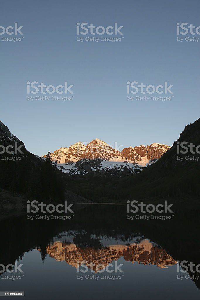 Maroon Bells at Sunrise royalty-free stock photo