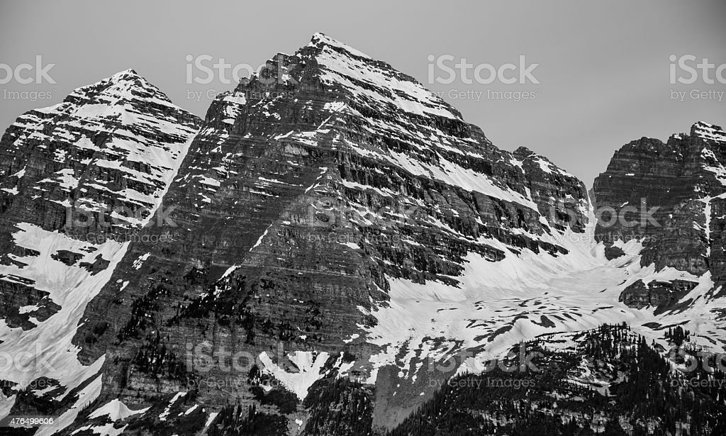Maroon Bells Close Up Massive Face stock photo