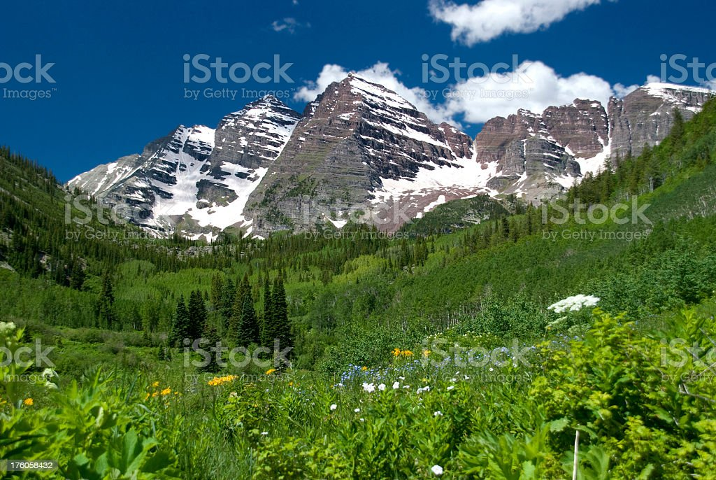 Maroon Bells Valley royalty-free stock photo
