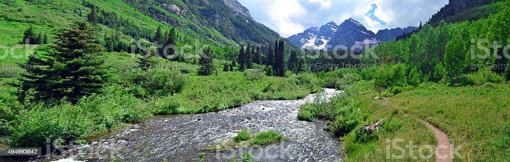 Maroon River stock photo