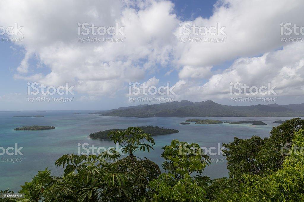 Marovo Lagoon in Solomon Islands stock photo