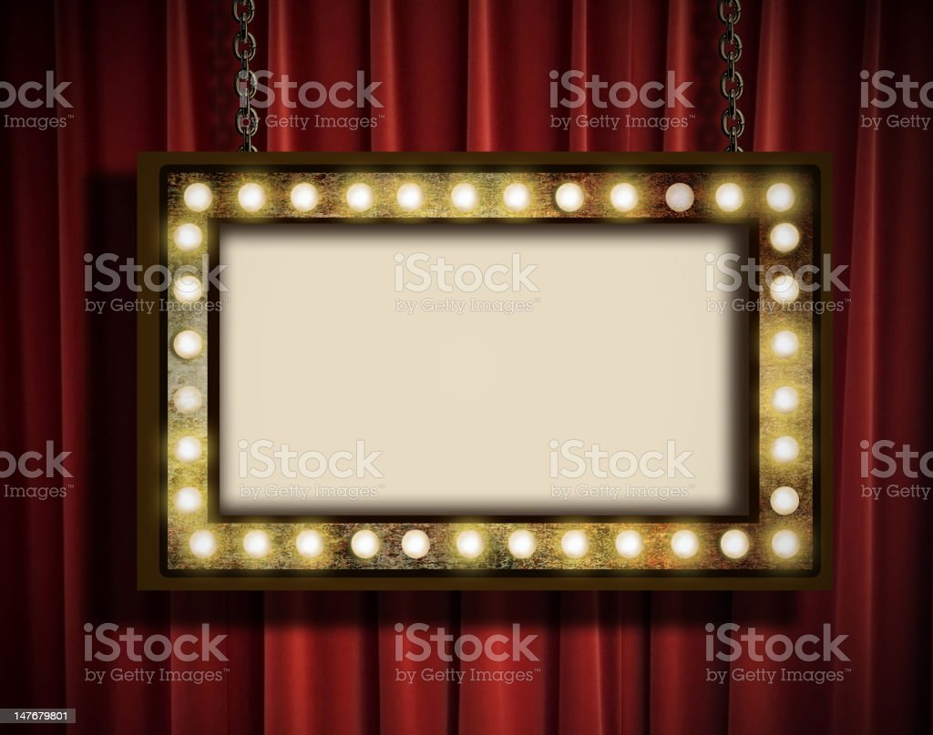 Marquee and curtain stock photo
