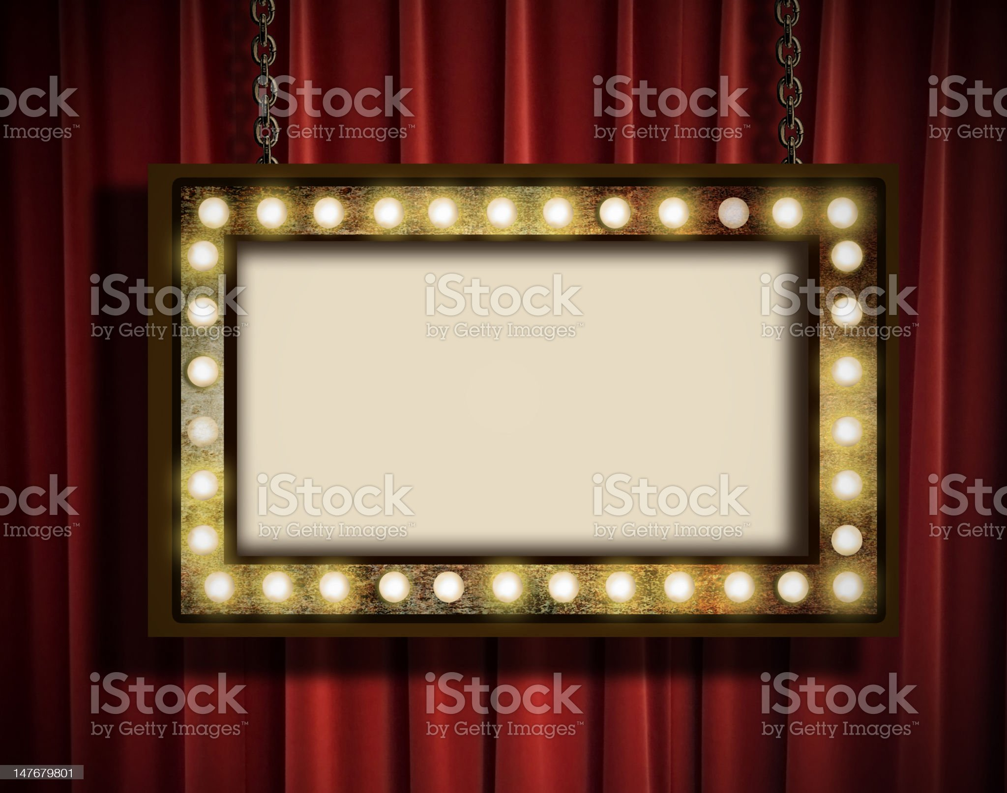 Marquee and curtain royalty-free stock photo