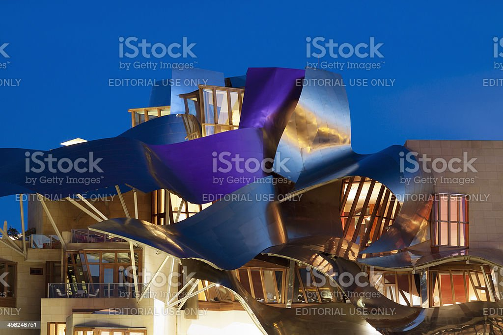 'Marques de Riscal' winery in La Rioja (Alava,Spain) royalty-free stock photo