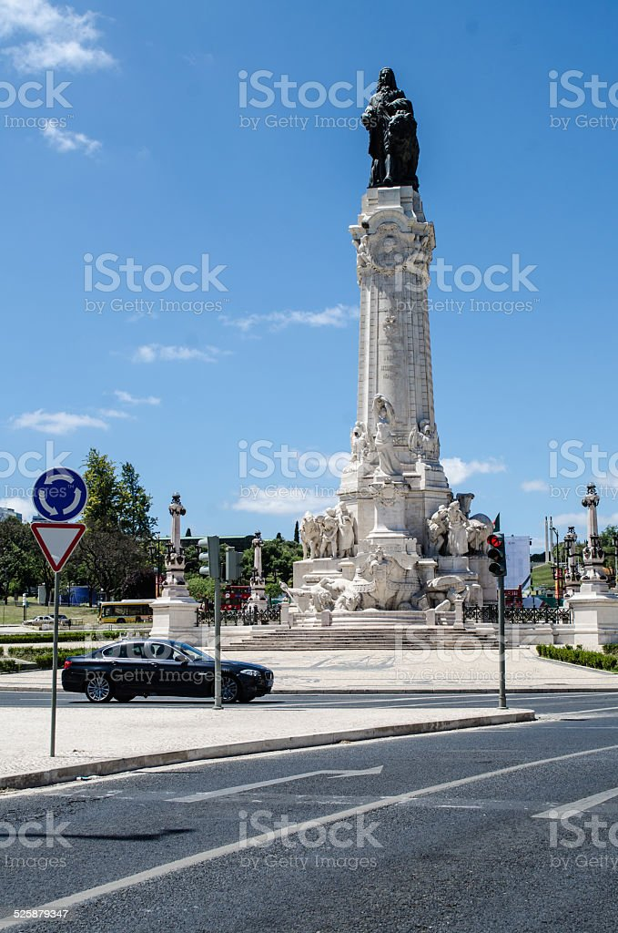 Marques of Pombal Square stock photo