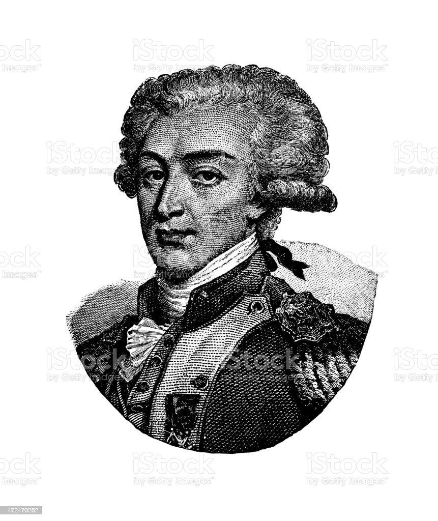 Marquis de la Fayette stock photo
