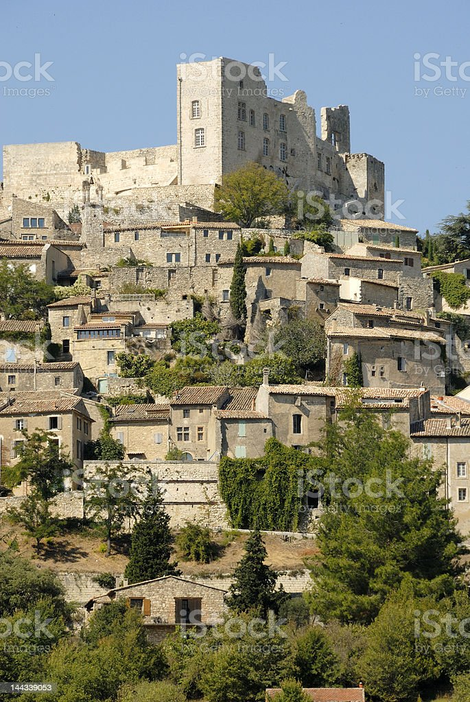Marquis de Sade Chateau,Lacoste,Provence,France royalty-free stock photo