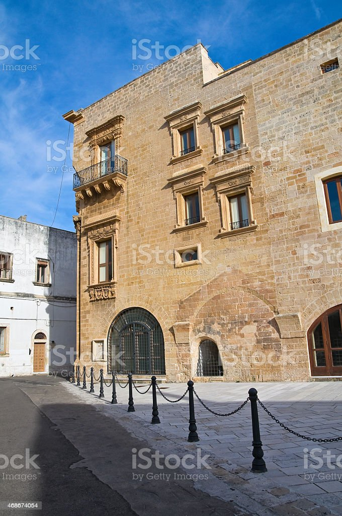 Marquis Palace. Galatone. Puglia. Italy. stock photo