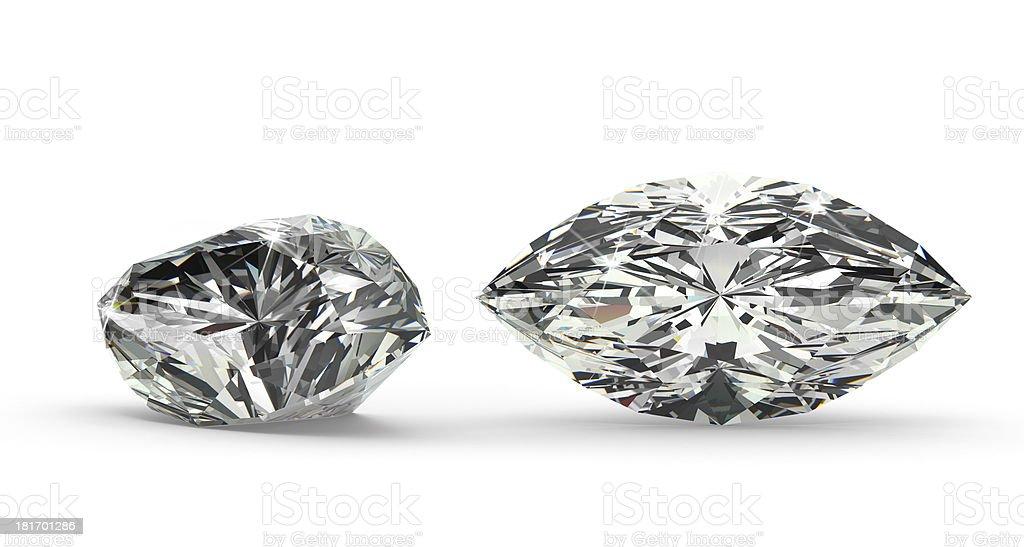 Marquise Cut Diamond stock photo