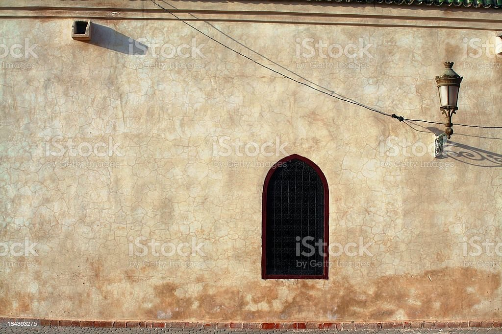 Marrakech building facade stock photo