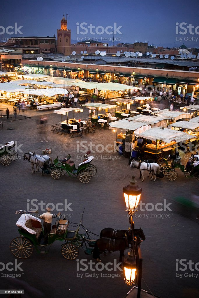 Marrakech by night royalty-free stock photo
