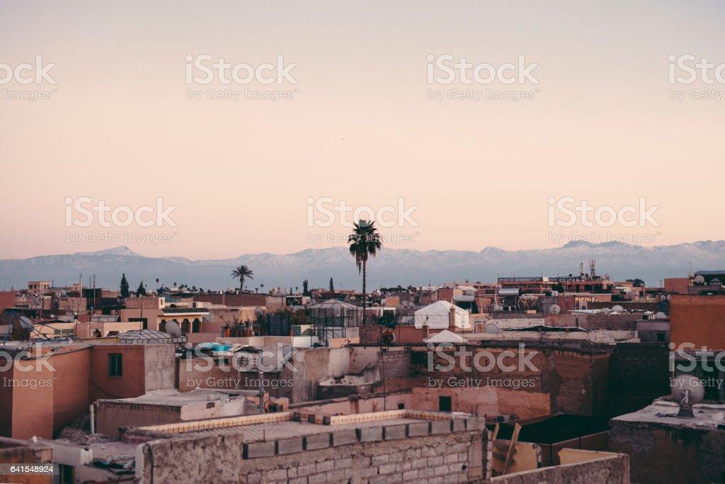Marrakech Cityscape, Morocco stock photo