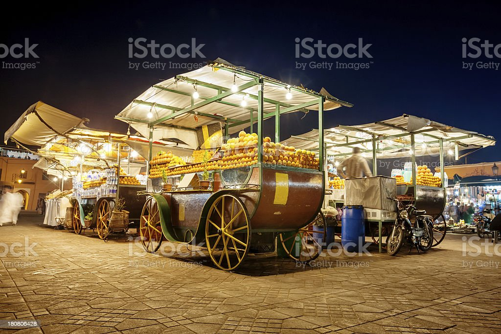 Marrakech Djemma El Fna by Night stock photo