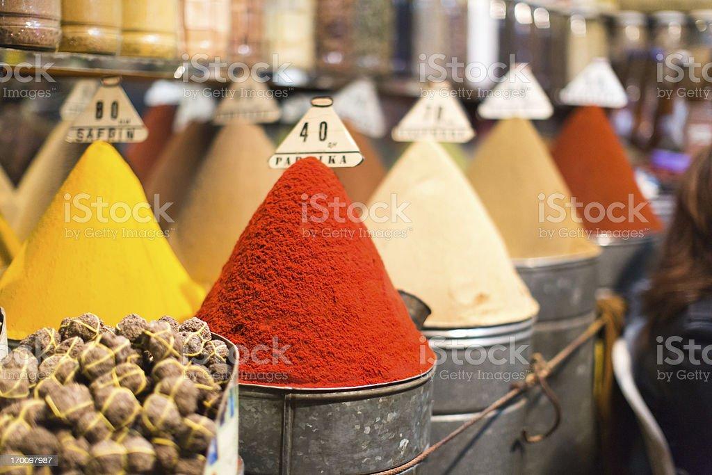 Marrakech Spice Market royalty-free stock photo
