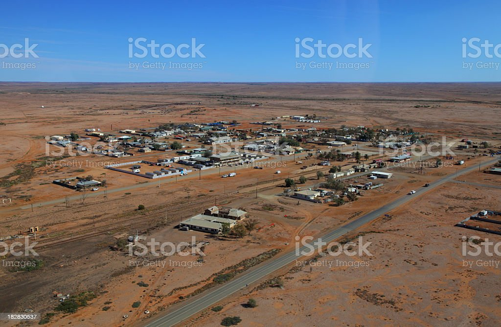Marree from above stock photo