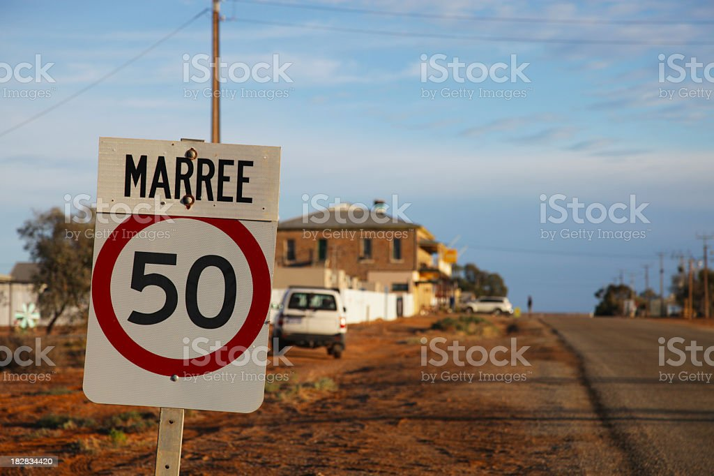 Marree township stock photo