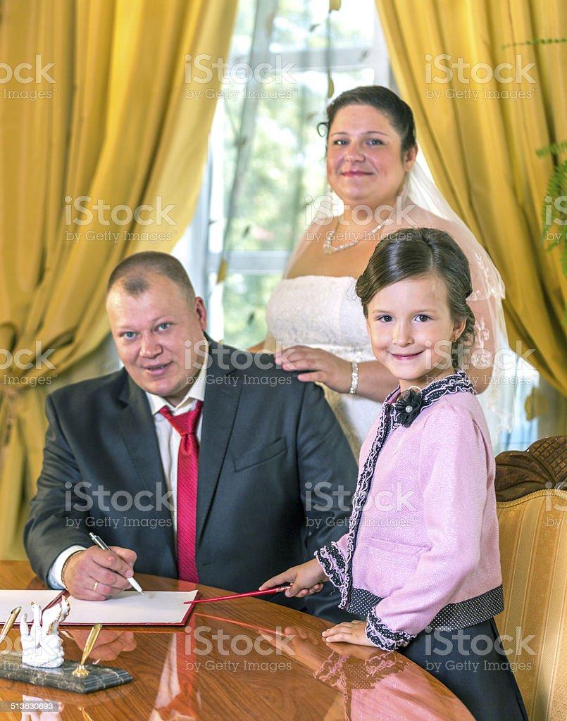 Marriage ceremony stock photo