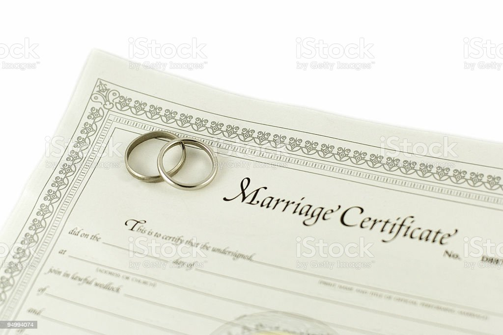 Marriage Certificate Pictures Images And Stock Photos  Istock