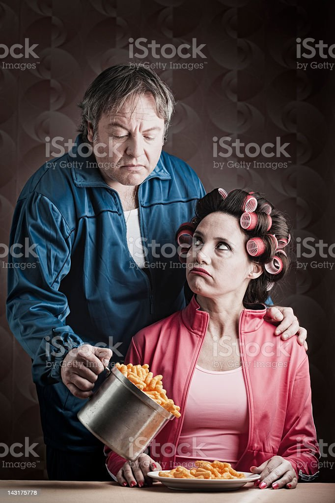 Marriage failure _ husband with frustrated wife. royalty-free stock photo