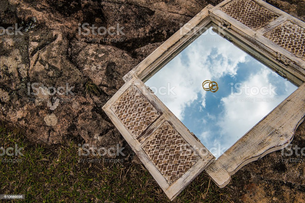 Marriage in heaven stock photo