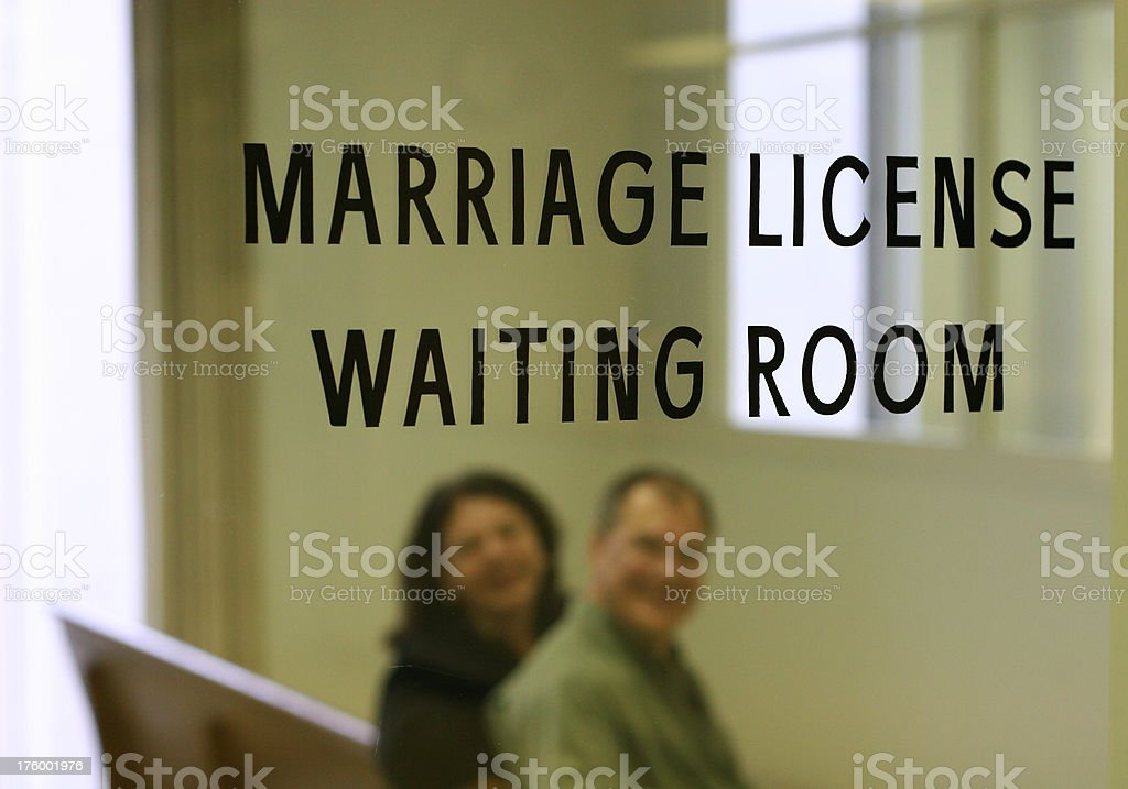 Marriage License Waiting Room royalty-free stock photo