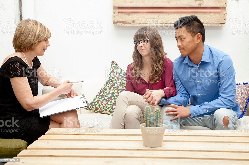 Marriage problems therapy stock photo