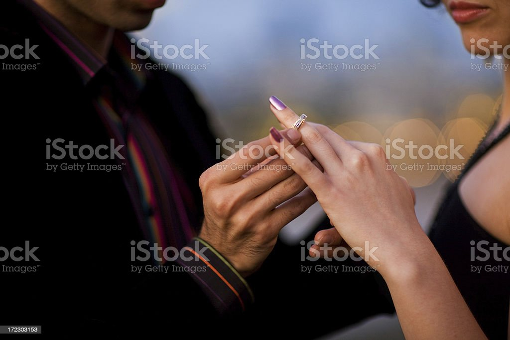 marriage proposal royalty-free stock photo