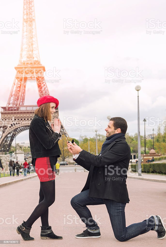 Marriage proposal stock photo