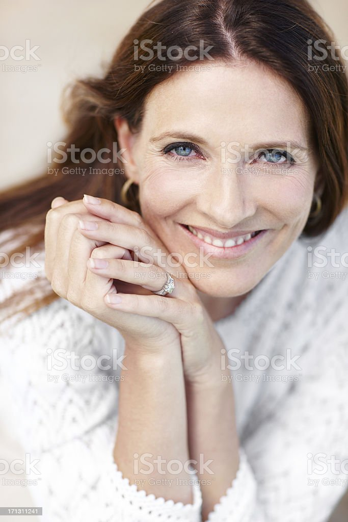Marriage seems to agree with her royalty-free stock photo