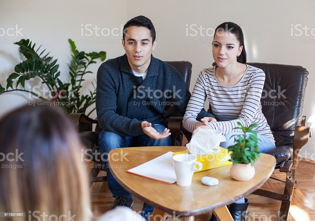 Marriage Therapy. stock photo