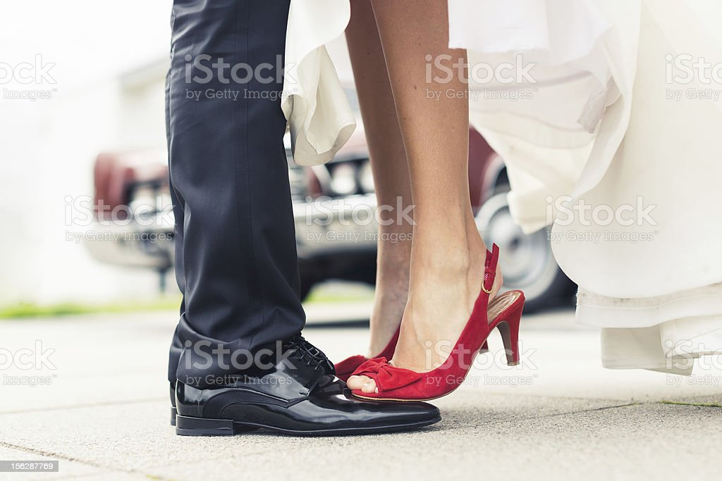 married couple in love stock photo