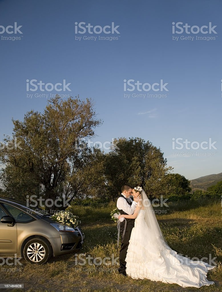 Married couple on holiday royalty-free stock photo