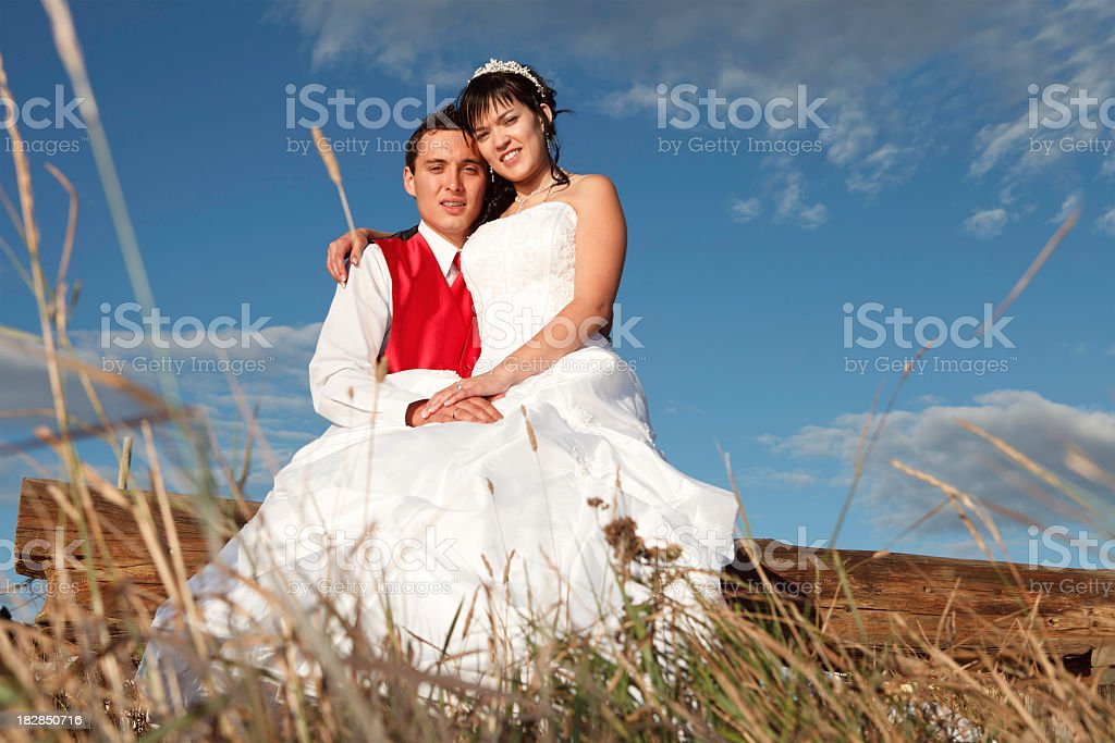 Married Couple Sit stock photo
