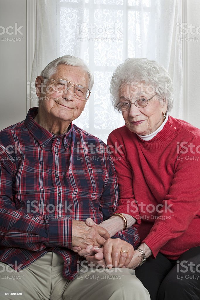 married senior couple togetherness stock photo