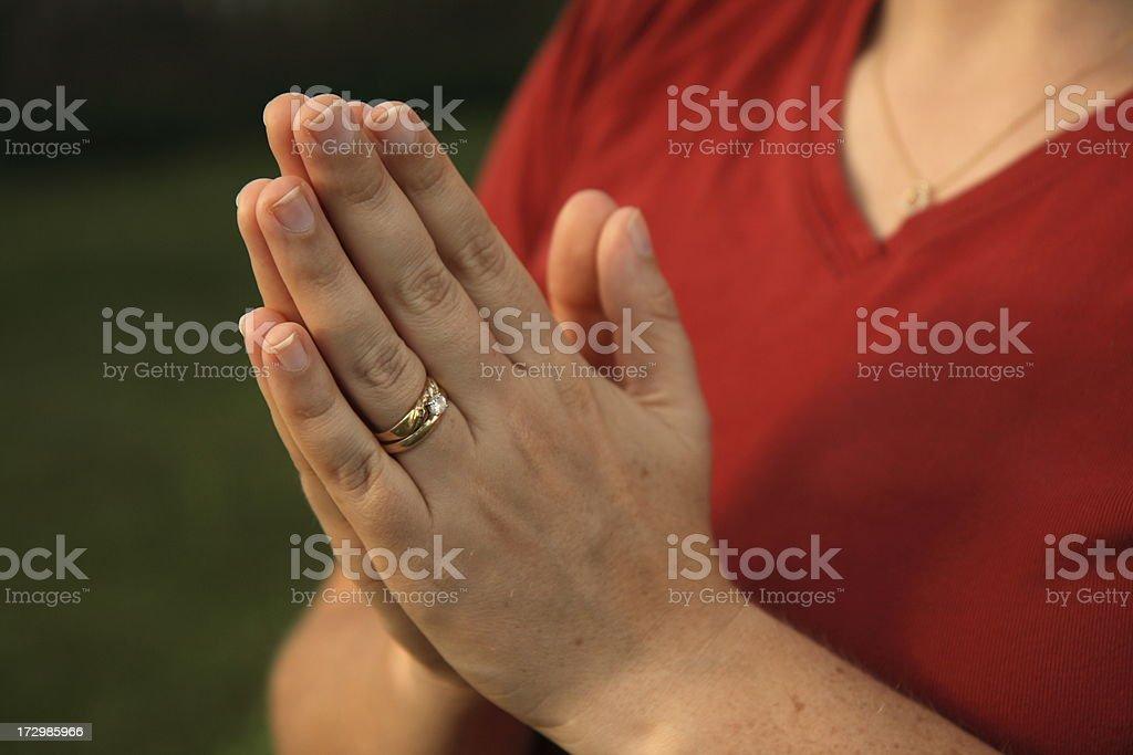 Married Woman Prays stock photo