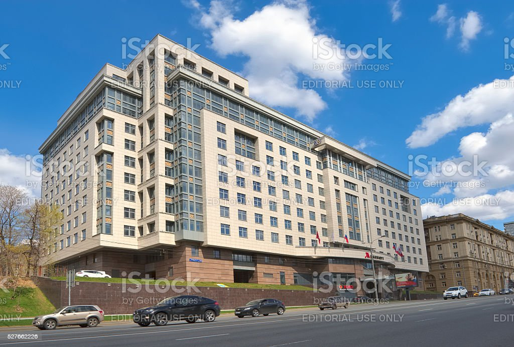 Marriott hotel in Moscow stock photo