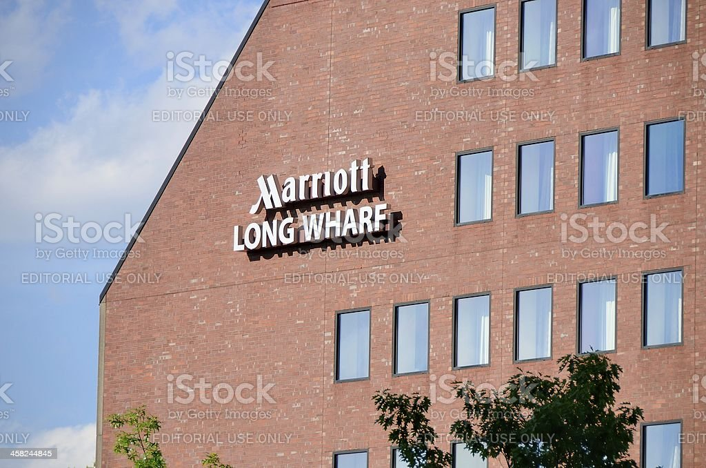 Marriott Long Wharf, Boston royalty-free stock photo