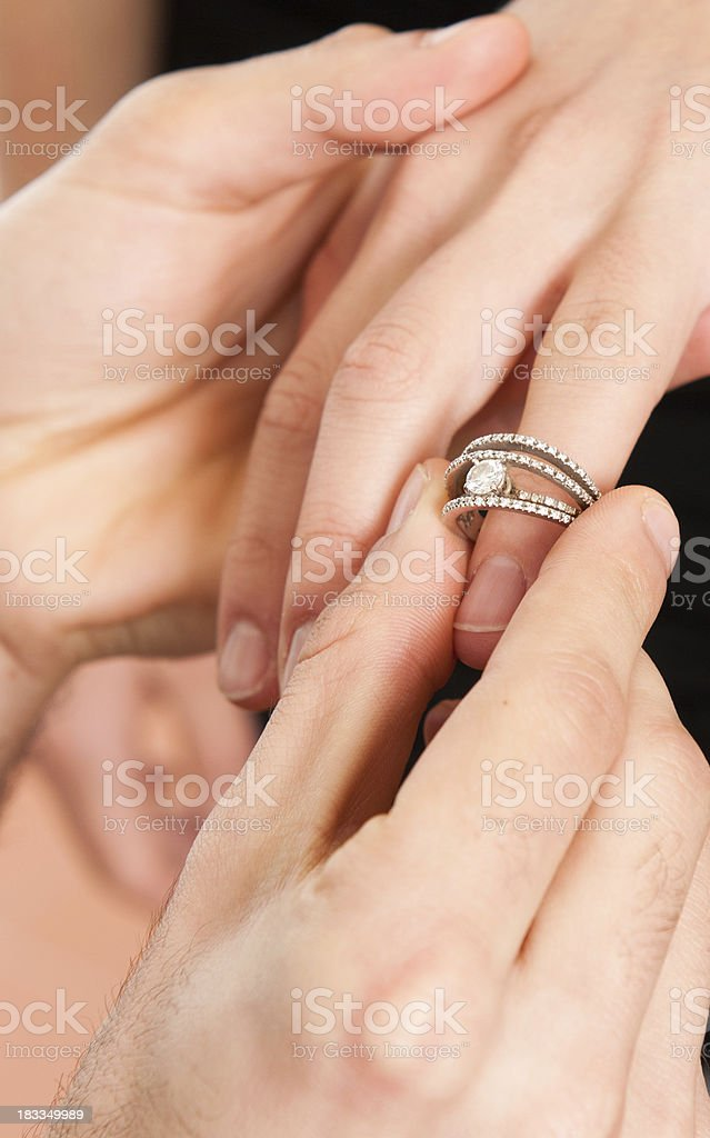 Marry me - Get engaged, St. Valentine theme royalty-free stock photo