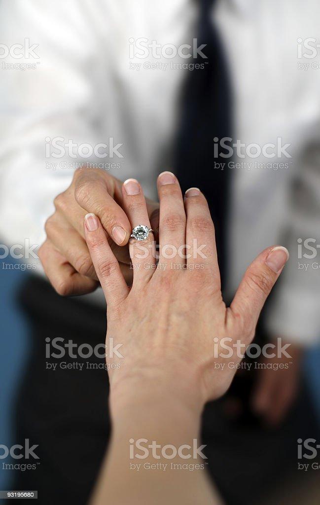Matrimonio mí? foto de stock libre de derechos