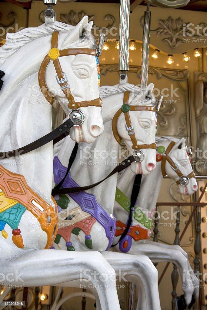 marry-go round horses royalty-free stock photo