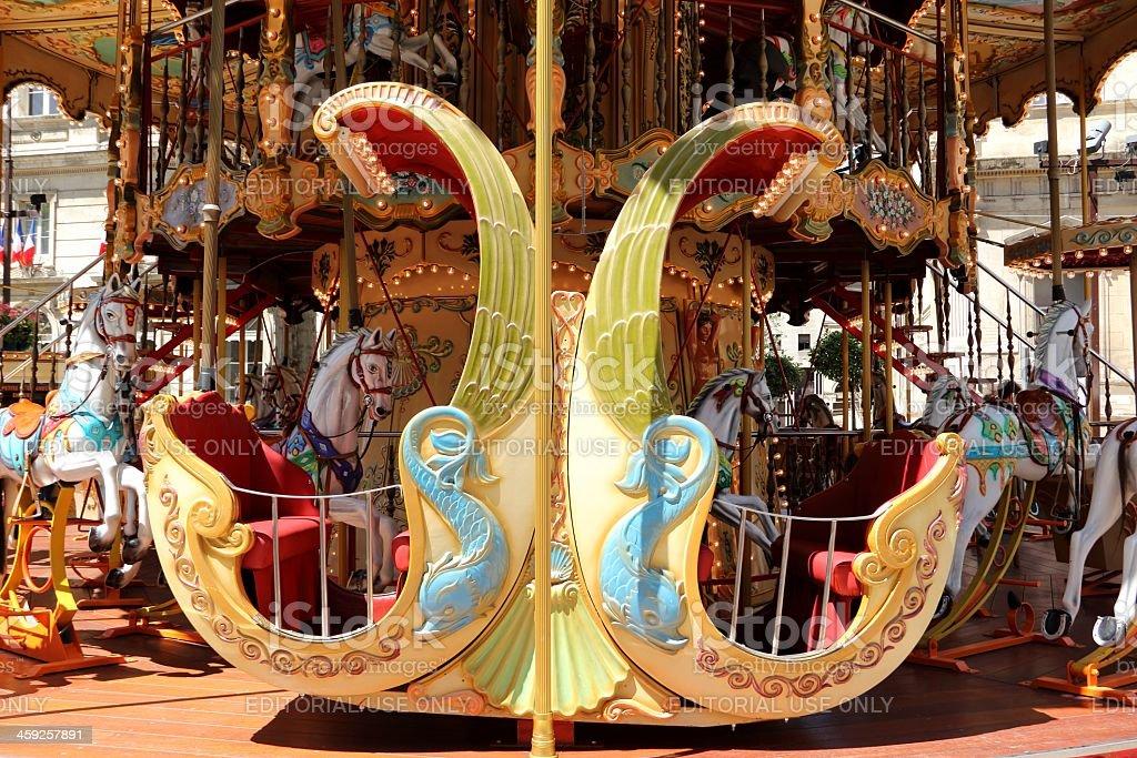 Marry-go-round stock photo