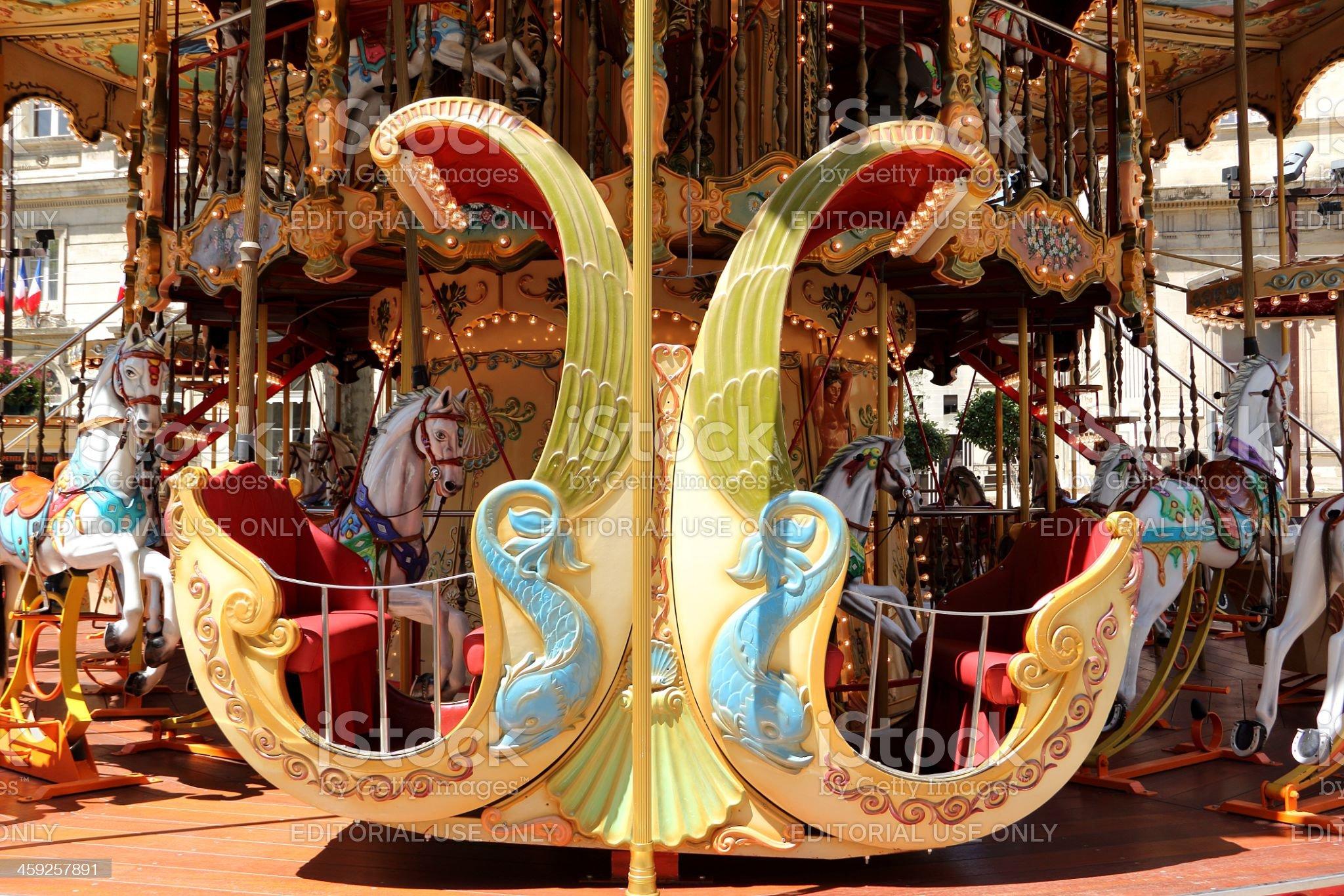 Marry-go-round royalty-free stock photo