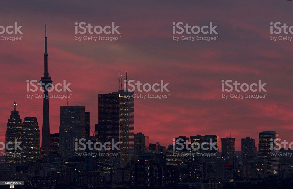 Mars alike downtown toronto royalty-free stock photo
