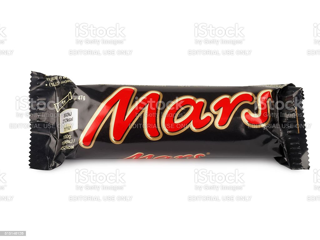 Mars chocolate bar stock photo