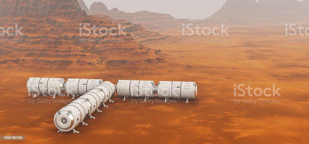 Mars exploration mission stock photo
