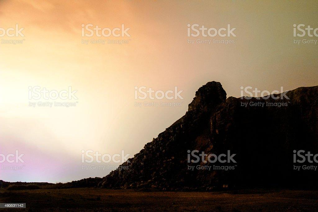 mars landscape stock photo