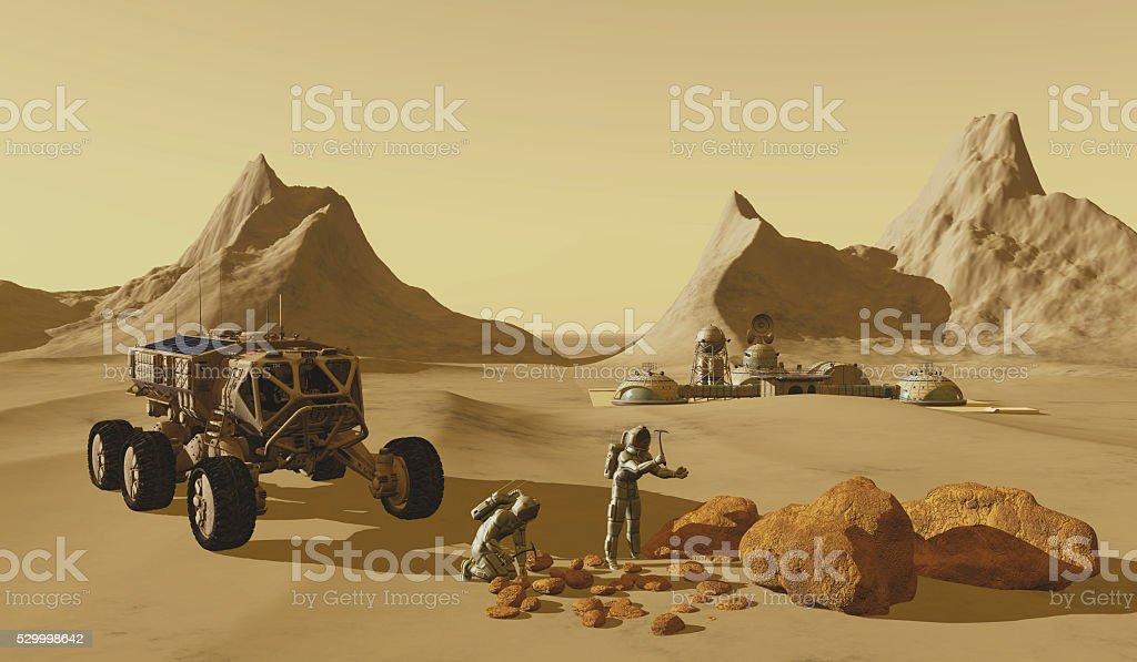 Mars Planet Explorers stock photo